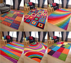 cheap rugs large modern bright vibrant colours soft thick carved medium rug