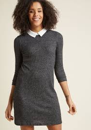 sweater dress ardent academic sweater dress in charcoal modcloth