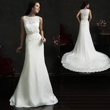 aliexpress com buy robe de mariage elegant simple white satin