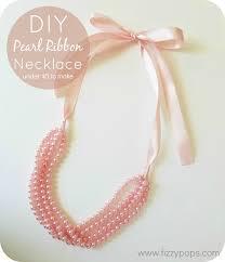 pearl ribbon diy pearl ribbon necklace tutorials 2 styles fizzy pops