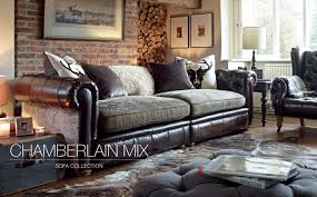 Leather With Fabric Sofas Mixing Leather And Fabric Sofas Fjellkjeden Net