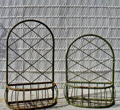 plant stand wrought iron half wall planters hanging baskets