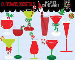 martinis clipart christmas clipart drink clipart digital christmas invitation