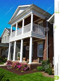 Cape Cod Style Home by Brick Cape Cod Style Home With Porch Stock Image Image 24324771