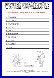 unscramble printable kids games