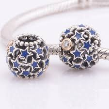 sterling silver star charm bracelet images Blue enamel star authentic 925 sterling silver beads fits pandora jpg
