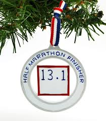 runner half marathon finisher 13 1 u2013 personalized ornaments