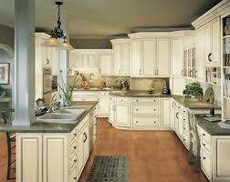 White Kitchen Cabinets With Glaze Kitchen Example Displaying The Armstrong Cabinet Style Waverly