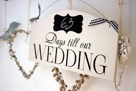 wedding countdown for countdown to wedding sign by hush baby sleeping