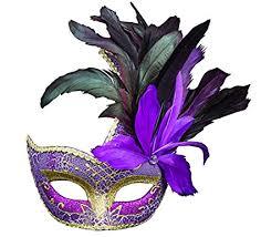 purple masquerade mask costume mask feather masquerade mask mardi