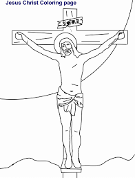 jesus on cross coloring pages