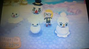 animal crossing new leaf snowman guide youtube