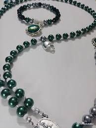 bracelet rosary eagles rosary matching wrist bracelet beaded by
