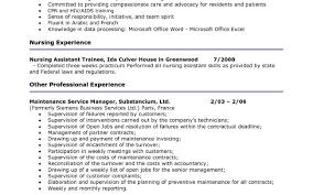 resume dazzling resume skills for a cna inspirational resume for