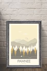 home decor wall posters parks u0026 recreation pawnee national park art poster print