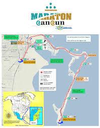 Cancun Map Cancun Marathon Cancun Quintana Roo Mexico 12 8 2018 My