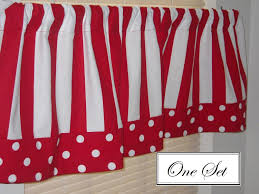 Red White Striped Curtains Curtain Ideas Red And White Curtains For Kitchen Make It Daring
