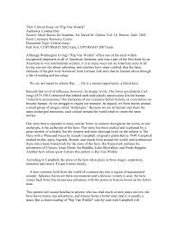 Examples Of Literary Criticism Essays Short Story Cover Letter Images Cover Letter Ideas