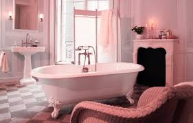 Clawfoot Tub Bathroom Design Ideas Vintage Pink Bathroom Tile Ideas And Pictures