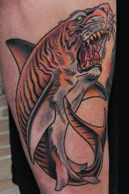 tattoos by stefan johnsson tiger shark