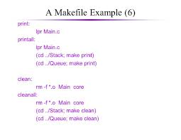 makefiles multiple source files 1 u obviously large programs