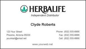 business cards for herbalife distributors
