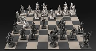 artstation frazetta s chess set caleb nefzen