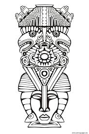totem inspiration inca mayan aztec 6 coloring pages printable