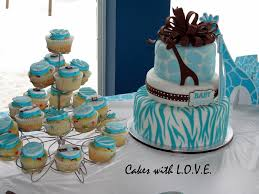 wild safari blue baby shower cake cakecentral com