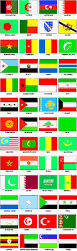 World Map Country Flags Flags