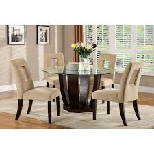 Round Glass Dining Room Table by Steve Silver Cayman 5 Piece Glass Top Dining Set Black Hayneedle