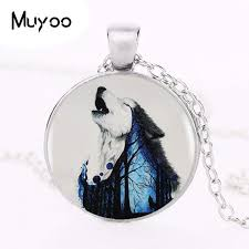silver wolf necklace images Wolf illusion pendant choker statement silver wolf necklace stuff360 jpg