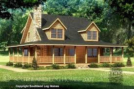 wrap around porch floor plans log home floor plans southland