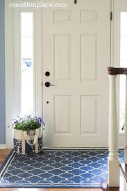 Outdoor Front Door Rugs Shows You Easy Diy Ways To Refresh A Small Entry Don T Let A