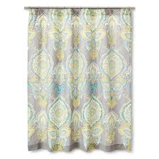 Threshold Medallion Shower Curtain by Mudhut Anila Shower Curtain Gray Aqua Yellow For The Home