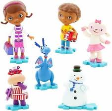 doc mcstuffin cake toppers doc mcstuffins figure set disney junior pvc cake topper stuffy