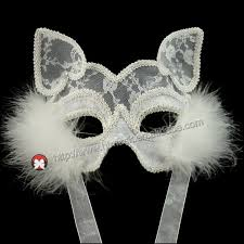 masks for masquerade party black cat women mask half white lace cat masks for