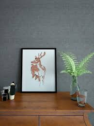 home interior deer picture copper deer print designed and handmade by tiff howick in