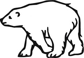 early play templates polar bear color in sheets