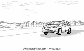 off road driving on slopes car stock vector 747040003 shutterstock