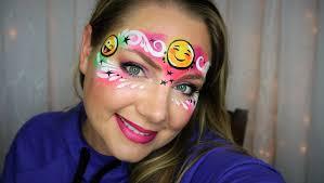 emoji face painting and makeup