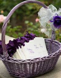 basket for wedding programs basket of church programs the wedding company in manhasset new