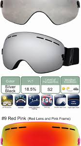 polarized motocross goggles locle ski eyewear anti fog double lens ski goggles uv400 ski