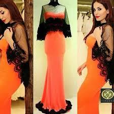 middle east arabic haifa wehbe celebrity evening dress with black