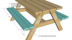 brilliant diy building plans for a picnic table wooden picnic