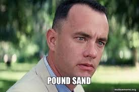 Sand Meme - pound sand make a meme