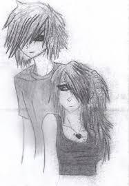 emo anime couple by emoamethystkitten on deviantart