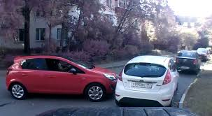 opel purple opel corsa smashes into ford fiesta brand rivalry in russia
