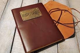 leather bound photo book recipe book chef leather bound journal metal some