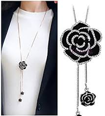 long silver fashion necklace images Shining diva fashion jewellery stylish pendants for girls with jpg